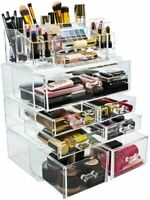 Sorbus Acrylic Cosmetics Makeup and Jewelry Storage Case Display Sets