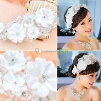 Pearl Flower Crystal Rhinestone Party Wedding Bridal Headband Hair Band Tiara