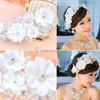 Pearl Flower Crystal Rhinestone Party Wedding Bridal Headband Hair Band Tiara