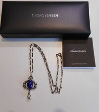 Georg Jensen  Heritage 2013  Necklace Pendant with Lapis Lazuli, NEW!