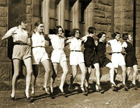 """1930's Group of Girls Dancing Old Photo 8.5"""" x 11"""" Reprint"""
