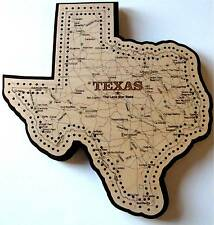 Texas State Shaped Road Map Cribbage Board
