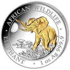 Somalia Elefante 2016 - 1 ONCIA ARGENTO Gilded ST