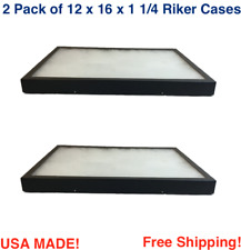 2 Pack Of 12 X 16 X 1 14 Riker Display Cases Boxes For Collectibles Arrowheads