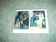 1992 Scd Card Strip Dikembe Mutombo Denver Nuggets Eric Green Pittsburgh Steeler