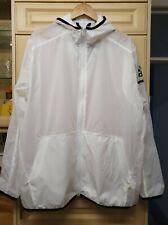 Adidas Lightweight Summer Pack it Nylon Hooded Jacket  White UK XL