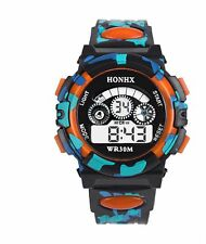 Big Dial Quartz Digital Wrist Watch Alarm Date Wristwatch Chrono Kids BGor (