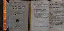 K/ RECUEIL DES ACTES ADMINISTRATIFS DÉPARTEMENT DE L'OISE 1823 Restauration