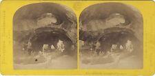 Grotte de l'Aquarium Exposition universelle Paris1867 Stéréo Vintage Albumine