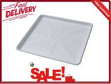 Washing Machine Pan Tray W/ Drain Adapter 28x30 Inch Plastic White Washer Part