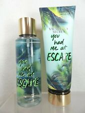 VICTORIA'S SECRET YOU HAD ME AT ESCAPE FRAGRANCE MIST SPRAY & BODY LOTION