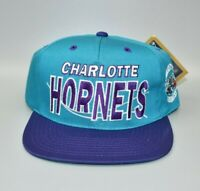 Charlotte Hornets NBA G-Cap GCC Vintage 90s Wave Snapback Cap Hat - NWT