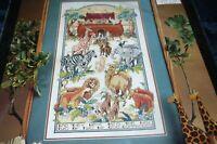 "Vintage Bucilla Counted Cross Stitch Kit Noah's Ark 10"" x 18"" #40632 NIP"