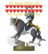 20 Hearts Wolf Link Amiibo Tag Legend Of Zelda Breath Of The Wild Switch / Wii U