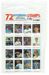 1983 FLEER STAMP SHEET ~ Unopened with Hall of Famers