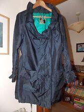 New navy blue BETTY JACKSON BLACK coat size uk16