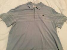 Lacoste Sport Tenis Polo Camiseta Talla 7 XL Azul con Rayas agradable