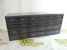"""24 Drawer Steel Organizer Cabinet 12"""" X 14"""" X 34"""""""