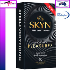 Ansell Skyn Non Latex Unknown Pleasures Textured Tasty Warm Cool Bulk 10 Condoms