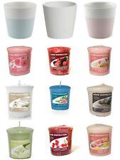 Yankee Candle Set 3 Pastel Votive Holders & 9 Yankee Votives 12pc Set Various