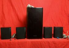 Samsung Surround System 5 Speakers w/ wires Home Theater PS-FS1-1 &  PS-FW1-2