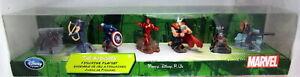 Disney Store MARVEL The Avengers 7 Pc Figurine Figure Playset Captain America