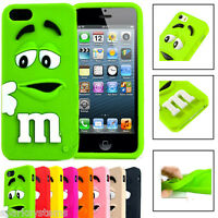 SOFT RUBBER SILC Cartoon M Case FOR IPHONE 4 5 5C 6 GALAXY S3 S4 S5 & S4 S3 Mini