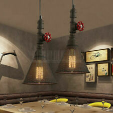 Rustic Industrial Vintage Ceiling Light Pendant Lamp Steampunk Pipe Cafe Fixture