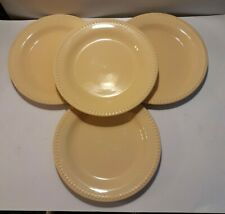 """POTTERY BARN """"EMMA""""  BUTTER YELLOW 11 1/2"""" DINNER PLATE DISCONTINUED SET OF 4"""