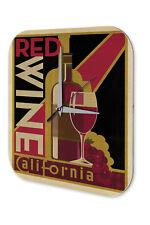 Horloge murale Décor De Cuisine  Vin rouge Californie Imprimee Acrylglas