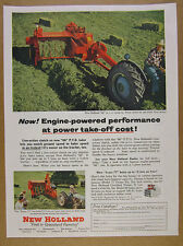1954 New Holland 66 PTO Baler farm hay haying photo vintage print Ad