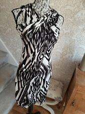 Ted Baker black white striped wiggle dress size 1 UK8/10