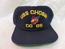 USS Chosin CG-65 Navy Blue Adjustable Hat Military Cap Snapback