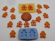 Escala 1:12 De Pan De Jengibre Hombre Molde Molde casa de muñecas en miniatura de alimentos