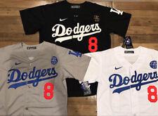 Kobe Bryant #8 & #24 Los Angeles Dodgers Men's Grey/White/Black Stitched Jersey