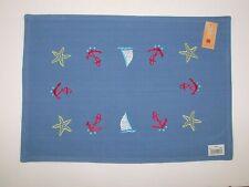 "(6) Lintex Reversible 100% Cotton Placemats ~ Starfish Sailboat ~ 13"" x 19"" NEW"