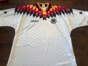 Germany 1994 World Cup Home Football Shirt Adidas Size L