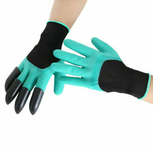 1Pair Protective Gardening Gloves 8Claw For Digging Planting One Size Waterproof