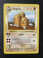 Shadowless Base Set Dugtrio Pokemon Card #19/102 Near Mint PSA Ready Vintage