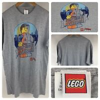 The Lego Movie Everything Is Awesome Emmet Gray T Shirt Size Large New