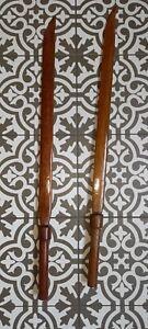 2x Long Wooden Swords .Theatre Stage prop, LARP, Fancy dress. Cos Play. Good Con