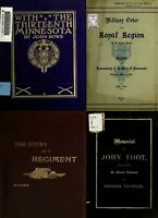 44 RARE OLD BOOKS ON MINNESOTA IN THE CIVIL WAR HISTORY GENEALOGY RECORDS ON DVD