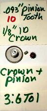 3.6:1 Crown and Pinin Gear Set by GARVIC Vintage Original 1960's #702 NOS