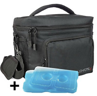 Insulated Lunch Bag, Large Insulated Lunch Box For Men Lunchbox with 2 Reusable