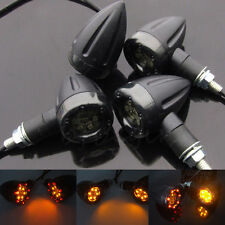 4x Universal Motorcycle LED Amber Lamp Rear Turn Signal Brake lights Indicator R