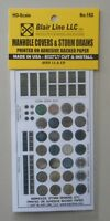 MANHOLE COVER STORM DRAINS HO SCALE TRAIN LAYOUT DIORAMA BLAIR LINE 162