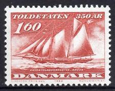 Dinamarca estampillada sin montar o nunca montada 1982 el 350th aniversario del servicio de aduanas
