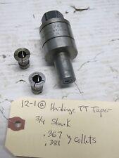 """Hardinge Lathe Tt Tapper 3/4"""" Shank with Collets .367 & .381"""