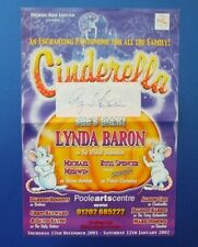THEATRE FLYER CINDERELLA SIGNED BY LYNDA BARON [ OPEN ALL HOURS ]