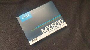 """2 x New Crucial MX500 250GB CT250MX500SSD1 SATA 2.5"""" SSD..."""